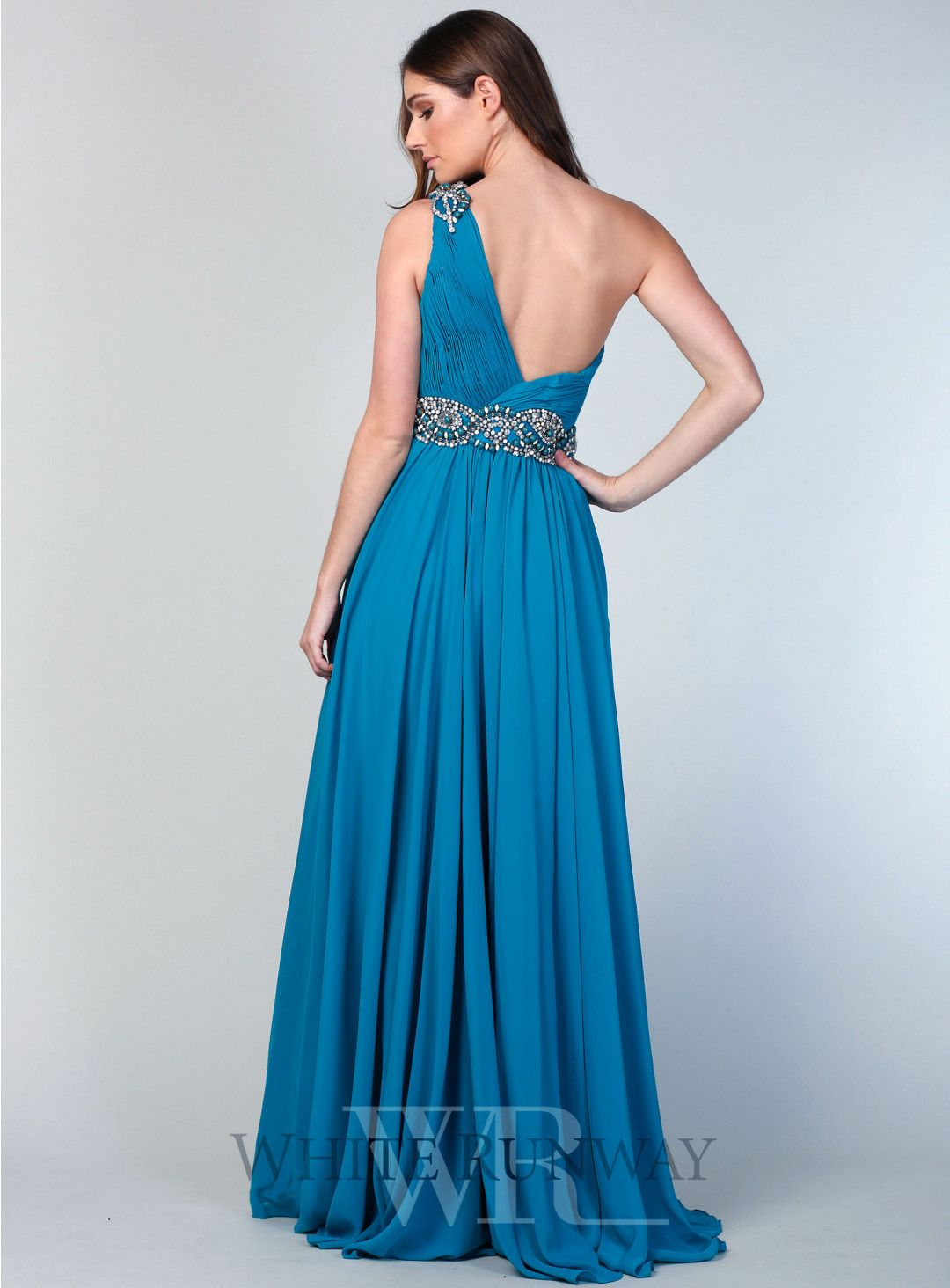 Leah Beaded Dress. A very pretty one shoulder formal evening dress ...