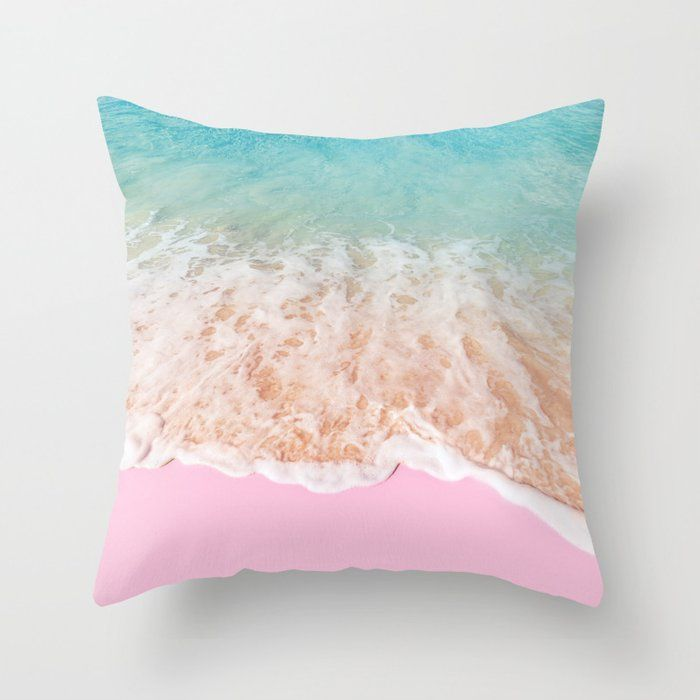 PINK SAND Throw Pillow by Paul Fuentes - Cover (16