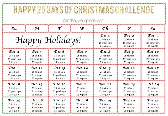 WHAT UP, SWAGS?! Live Well December Workout Calendars