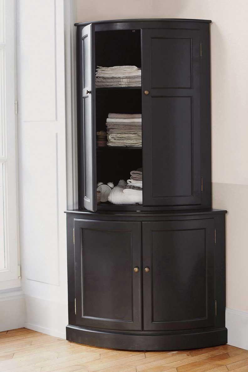 Un Meuble D Angle Haut Avec Placards La Redoute Interieurs Meuble D Angle Petit Meuble D Angle Mobilier De Salon