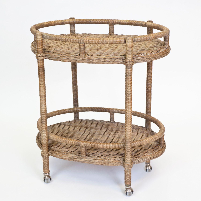 Nantucket Chestnut Wicker Bar Cart Dear Keaton Wicker Bar Cart