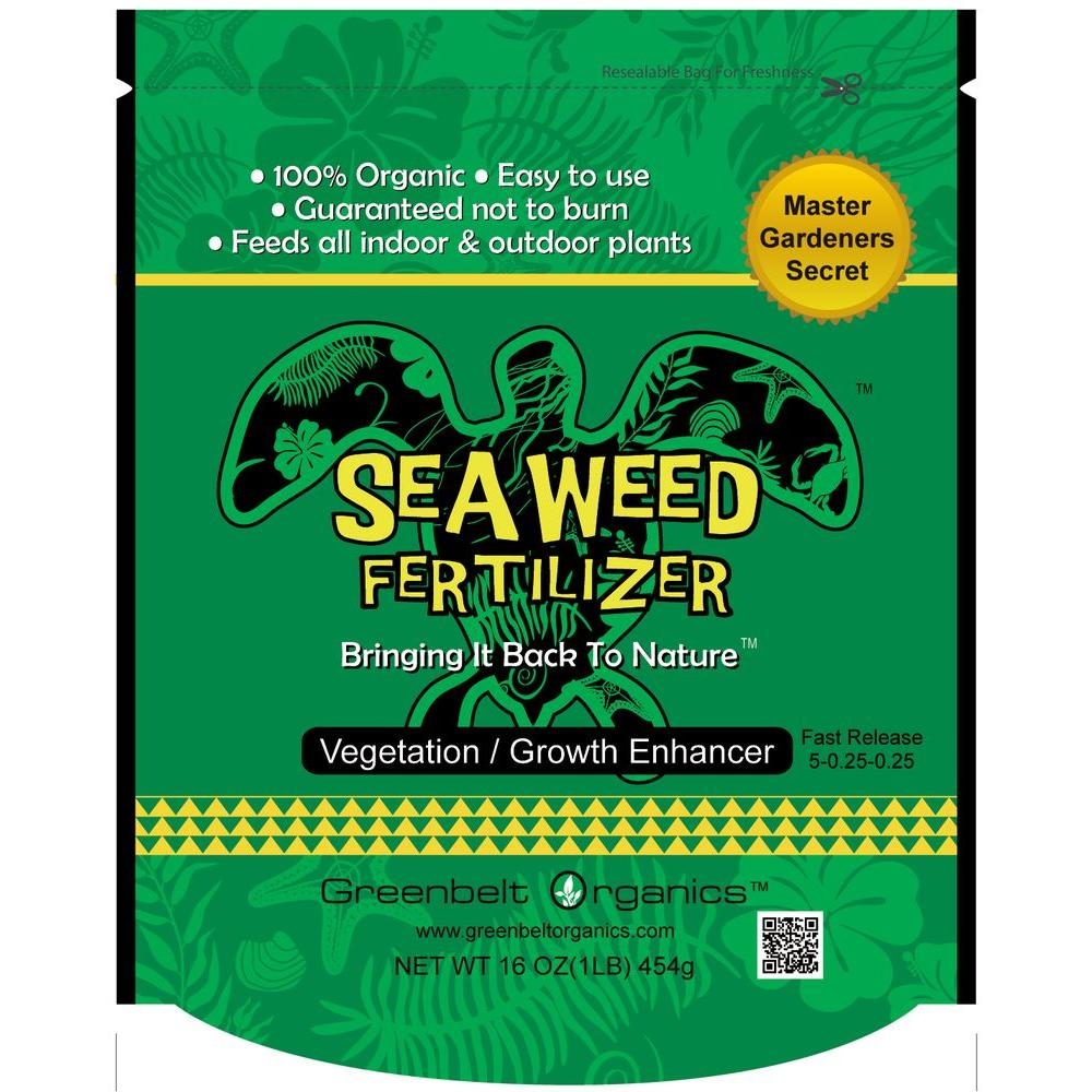 Greenbelt Organics Seaweed 1 Lb Organic Powder Fertilizer Bag Gb00562p1lb The Home Depot Fertilizer Organic Liquid Fertilizer Greenbelt