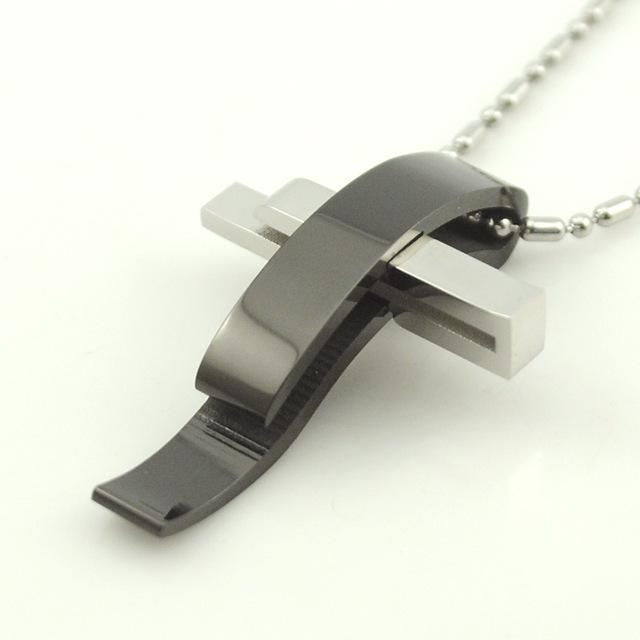 2b681c47d2 Modern Style Stainless Steel Cross Necklace | Cross necklaces ...