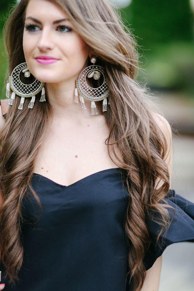 7d8c28936c036e Southern Curls   Pearls. Black Off Shoulder TopMeli ...