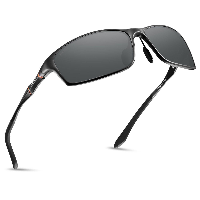 0b1e1fcc69d SOXICK Polarized Sports Sunglasses For Men HD Driving Glasses Al-Mg Metal  Frame Ultra