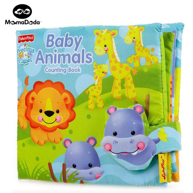 3D Cartoon Animal Soft Cloth Book Baby Infant Educational Learning Books Gifts