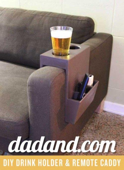 Kreative Lagerung 8 Diy Sofa Caddies Und Inhaber Selbstgemachte