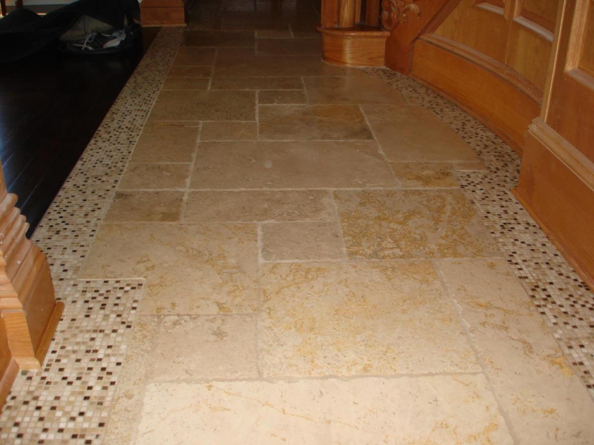 Wood And Stone Flooring Combinations Custom Floor Tile Borders Stone Flooring Flooring Custom Floor Tile