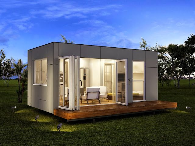 Granny flats studio rennes prefab container home pool for Pool house modulare