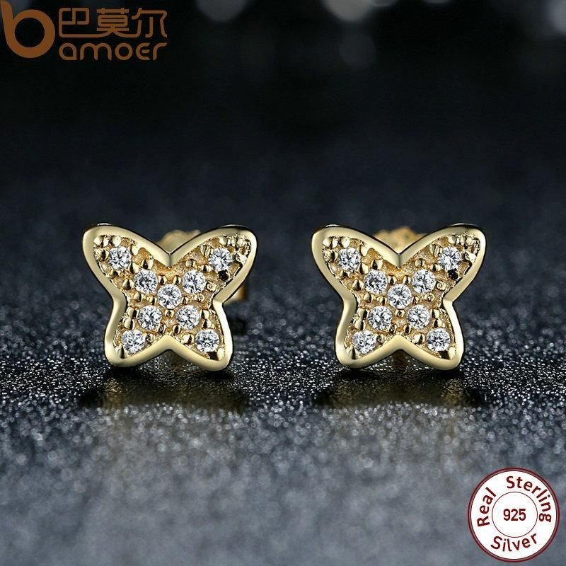 7935ac73c Cheap fashion stud earrings, Buy Quality stud earrings directly from China earrings  fashion Suppliers: BISAER 925 Sterling Silver Petite Butterfly, ...