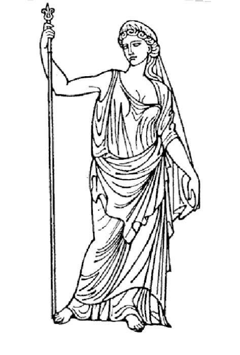 дизайн, греческие боги рисунки гера всем моделям