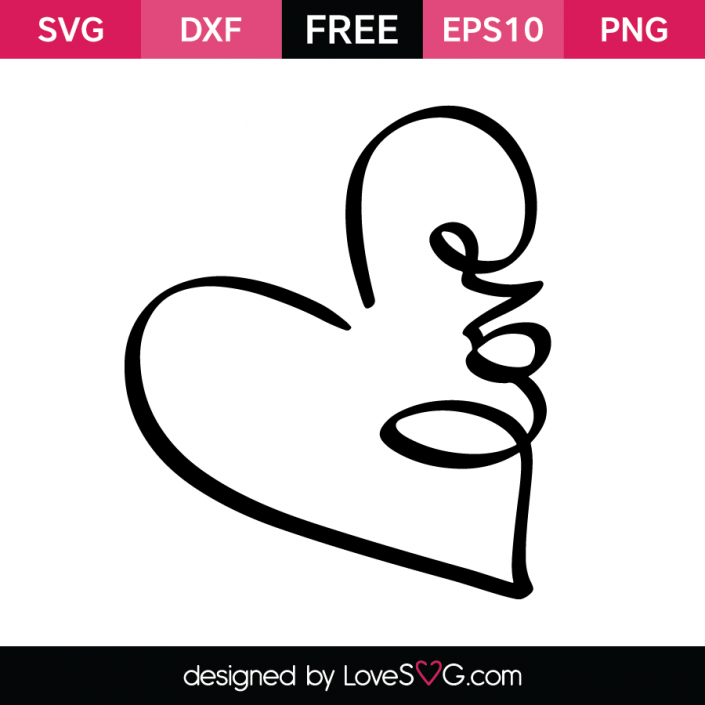Love in a Heart | Cricut Ideas | Svg cuts, Free svg cut files, Cricut