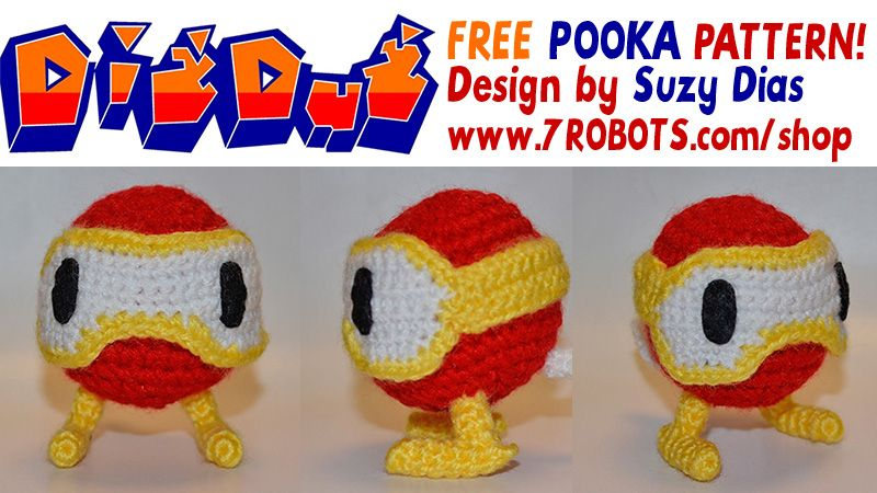 Dig Dug\'s Pooka! FREE Pattern by Suzy Dias. Classic video game http ...