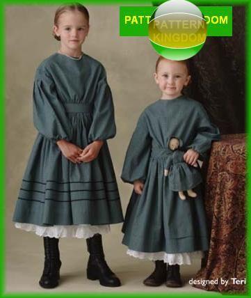 Simplicity 4737 Childs Victoriancivil War Era Dressdoll Patterns