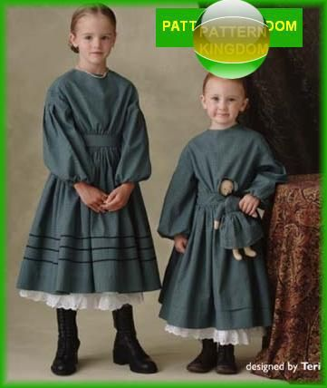 9f1313fe31ef1232e4b38728a1a49746 simplicity 4737 childs victorian civil war era dress doll patterns,Childrens Clothes Victorian Era