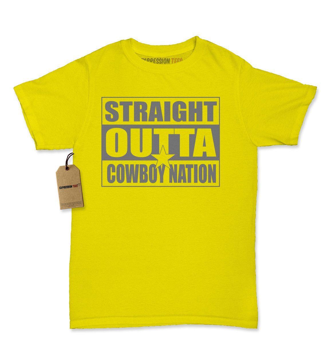 Straight Outta Cowboys Nation Football Womens T-shirt