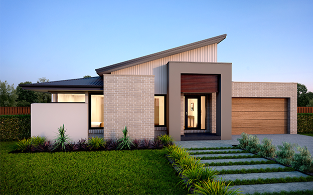 Contemporary flat sloped single storey houses google for Modern single story homes
