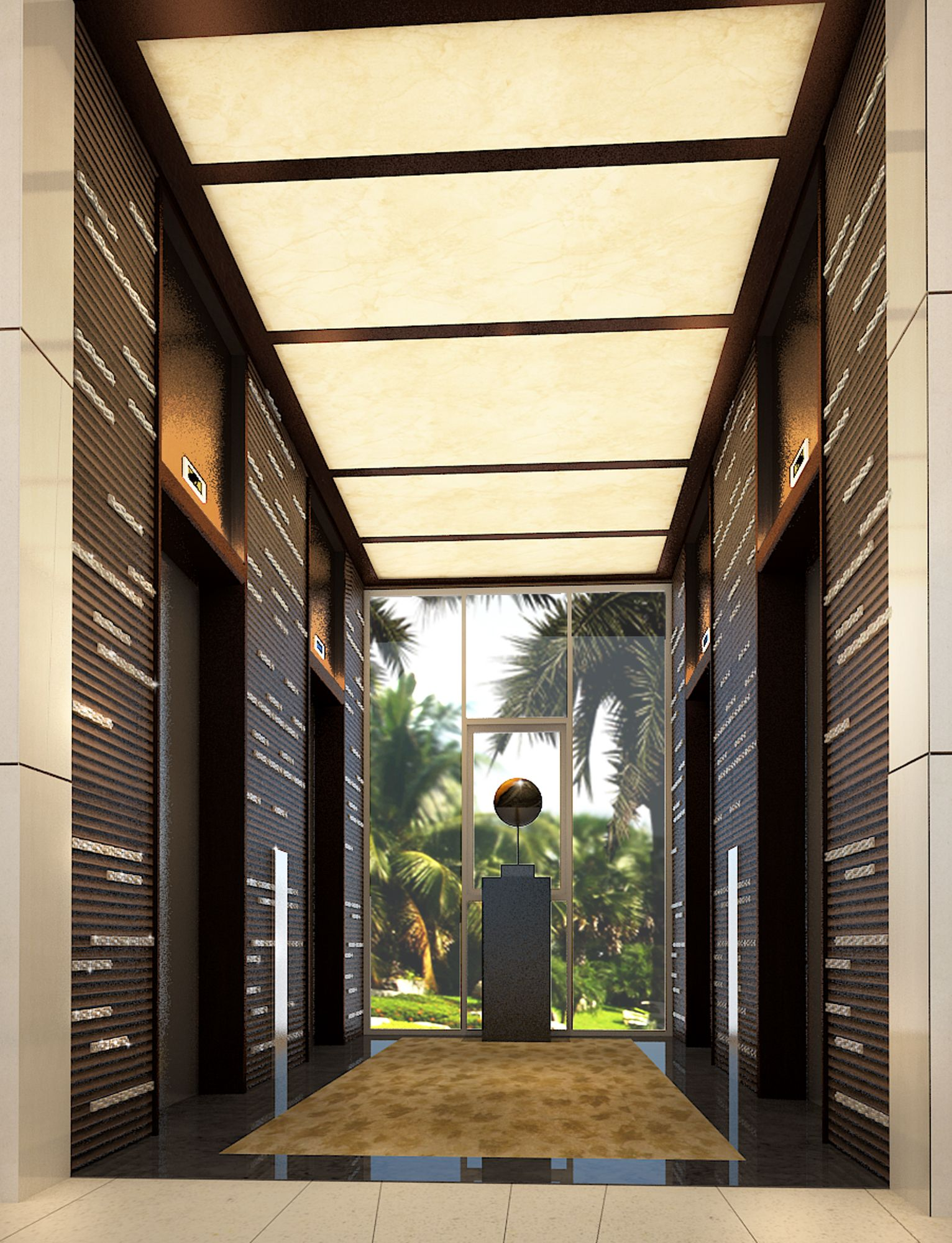 10 Best Modern Home Design Ideas Decoration: Perspective For Lift Lobby