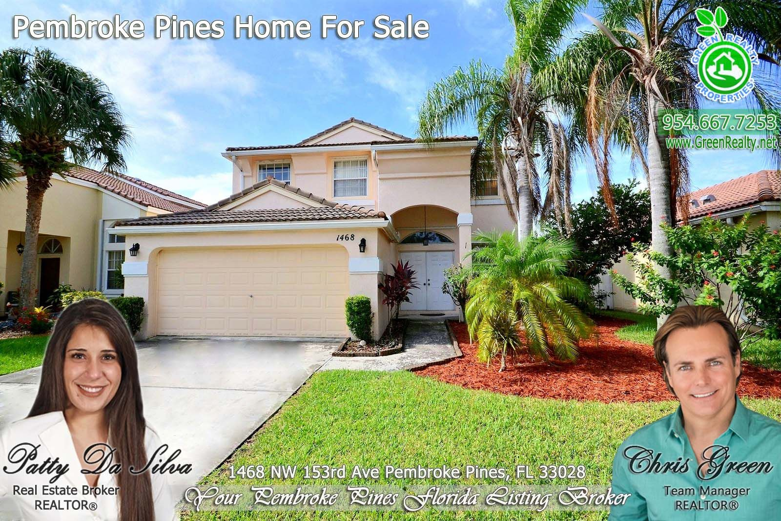1468 Nw 153rd Ave Pembroke Pines Fl 33028 Mls A10553050 Green Realty Properties Pembroke Pines House Beds Pembroke