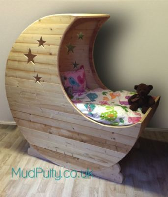 Small Wooden Crescent Moon Cradle Google Search