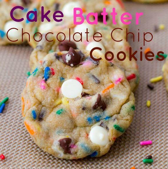 Recipe Round 2: cake batter chocolate chip cookies.