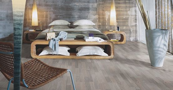 Grey Oak Laminate Flooring In Contemporary Bedroom Flooring Ideas Floor Design Trends Oak Laminate Flooring Flooring Bedroom Laminate Flooring