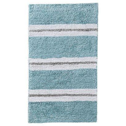 Threshold Rugby Stripe Reversible Bath Rug   Blue/Gray (20x34)