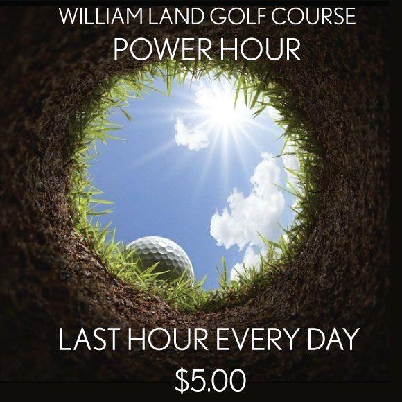 Now Offering Last Hour At William Land Golf Course Play As Many Holes As You Can Before Darkness Sets In Haggin Oaks Golf Courses Golf Top Golf