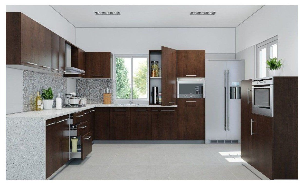 kitchen interior design in india l shape #interior #design