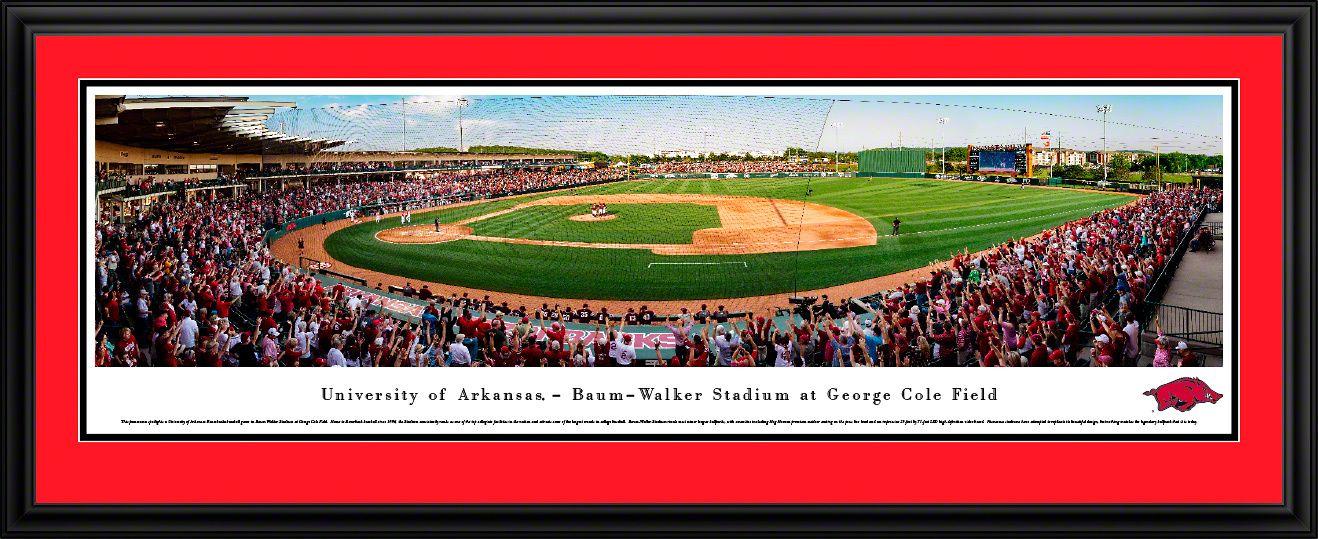 Arkansas Razorbacks Baseball Panorama Baum Walker Stadium At George Cole Field In 2020 Arkansas Razorbacks Baseball Razorback Baseball Arkansas Razorbacks