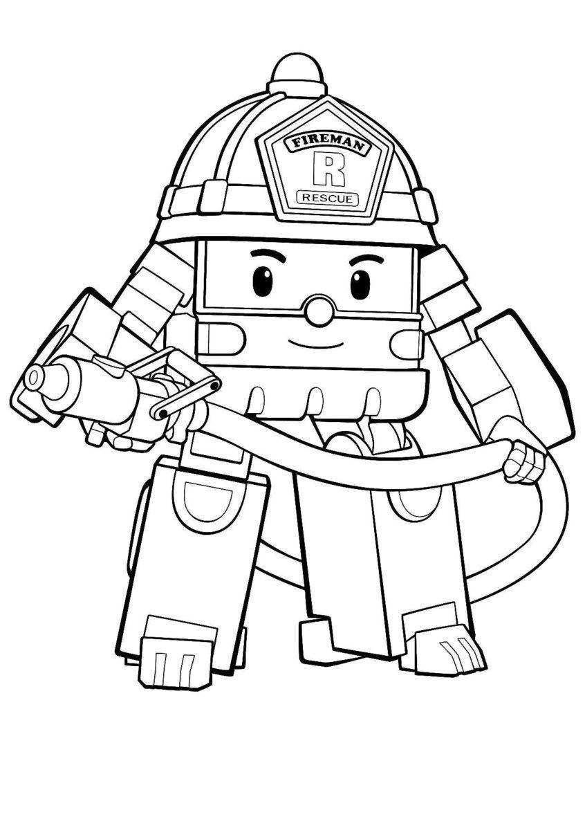 16 Coloring Page Robocar Poli Easy Cartoon Drawings Coloring Pages Robocar Poli [ 1197 x 846 Pixel ]