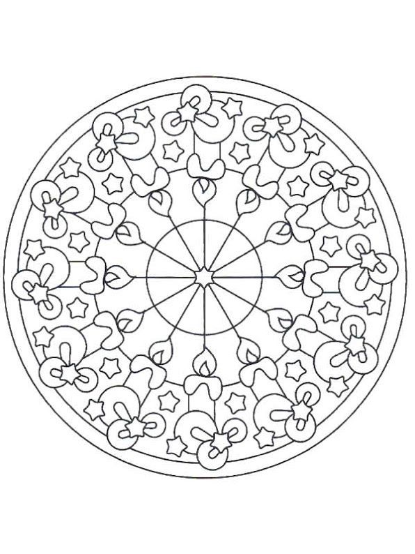 christmas_mandala_coloring_page_for_kids (6) | circulos y formas ...