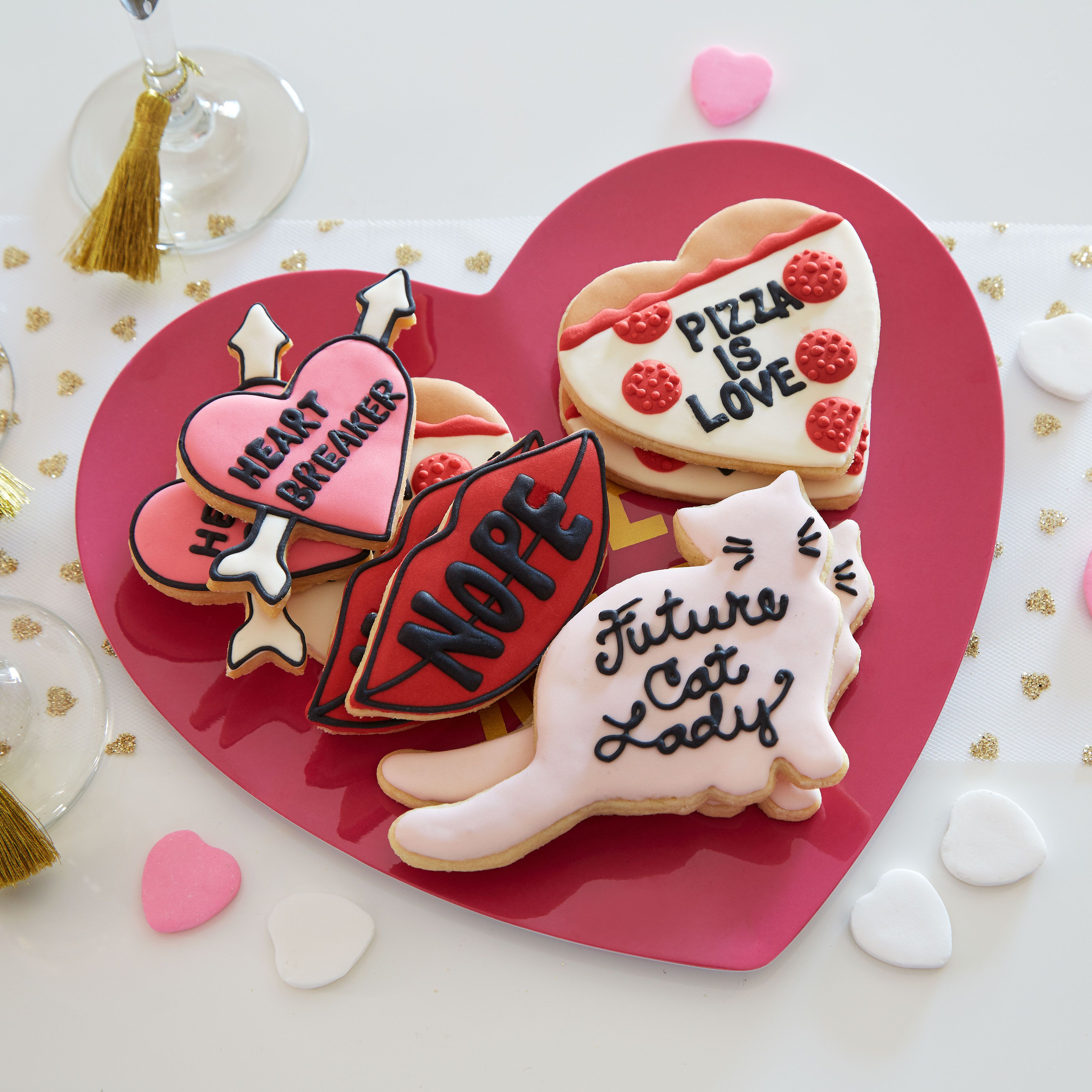 Valentine S Day Cookies Let S Talk Galentine S Day Cookies Get The Easy How To For These Del Valentine Sugar Cookies Valentines Day Cakes Anti Valentines Day