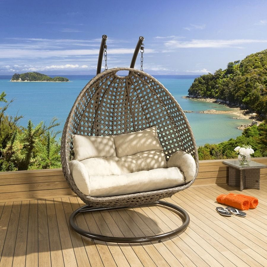 Wondrous 2 Seater Garden Pod Chair Extra Large Rattan Outdoor Egg Caraccident5 Cool Chair Designs And Ideas Caraccident5Info