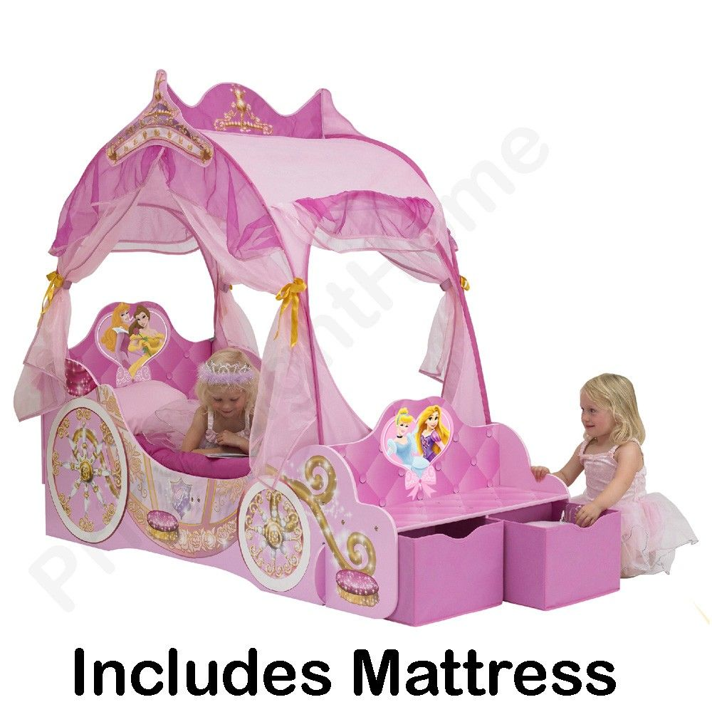 Disney princess carriage toddler bed + deluxe mattress  sc 1 st  Pinterest & Disney princess carriage toddler bed + deluxe mattress | Toddler ...