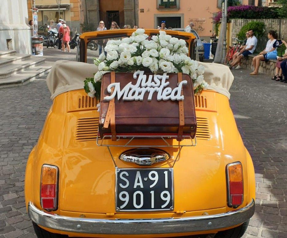 Fiat 500 just married #weddingcar