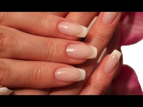 Flawless Gel Nails - French White Tip + Stardust Pink Tutorial by ...