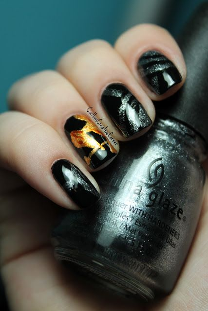 Nail Art Inspired By The Hunger Games Created By Caitlin