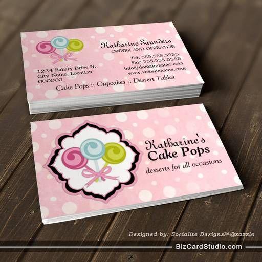 Cake Pops Bakery Business Cards Bakery Business Cards Bakery Business Cards Templates Cake Business Cards