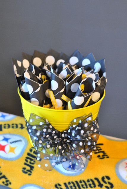 Colemans Little Linebacker Steelers Pittsburgh Themed First Birthday By One Swell Studio