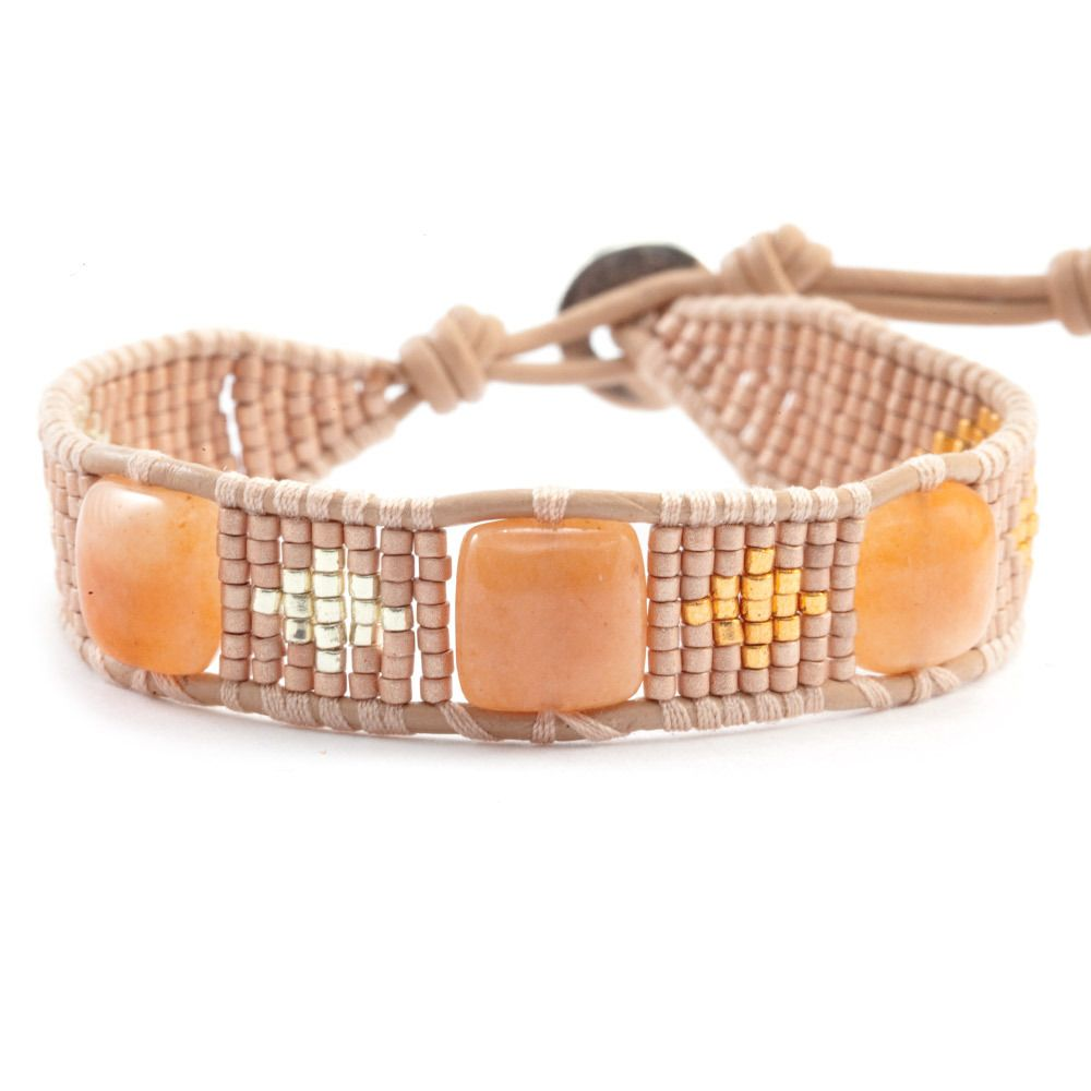 Chan Luu - Peach Single Wrap Bracelet On Peach Leather, $80.00 (http://www.chanluu.com/peach-single-wrap-bracelet-on-peach-leather/)