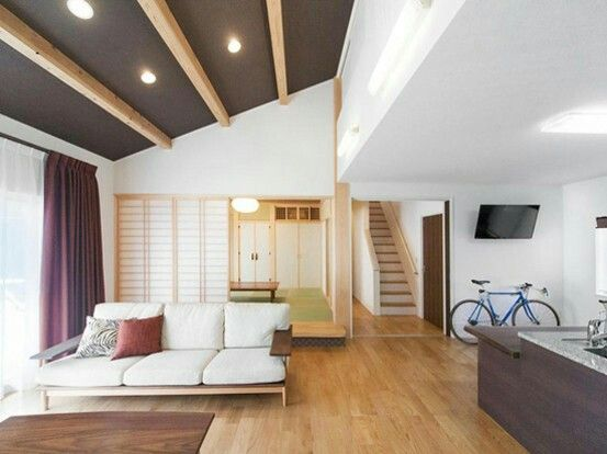Ldk 梁の見える天井 小上がり和室 小 上がり 和室 和室 リビング 天井