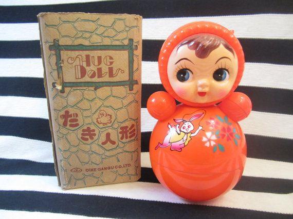 Vintage USSR Toys Rare Plastic Nevalashka Doll Vanka-get up Vanka-vstanka