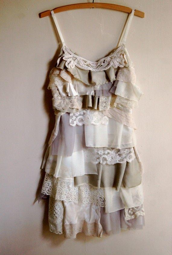 ArmoursansAnguish. tattered rag doll scrap upcycled dress