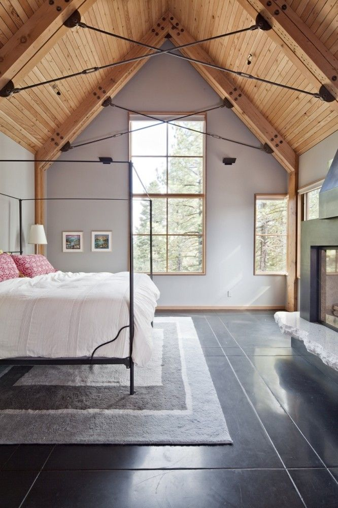 Tahoe Ridge House Wa Design Inc Lake House Attic Bedrooms