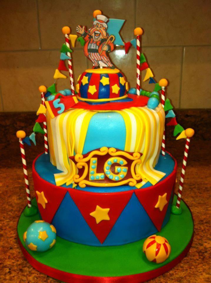 Circus Cake For A Local Boys 5th Birthday Happy Birthday Landon