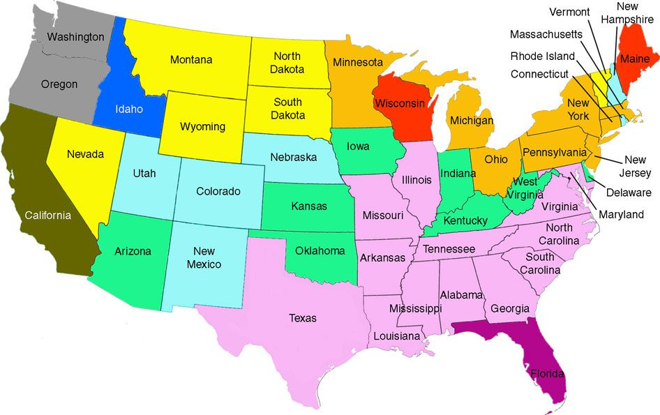 Map Of The Usa With Names Map Usa Map Images - Map of the usa with state names
