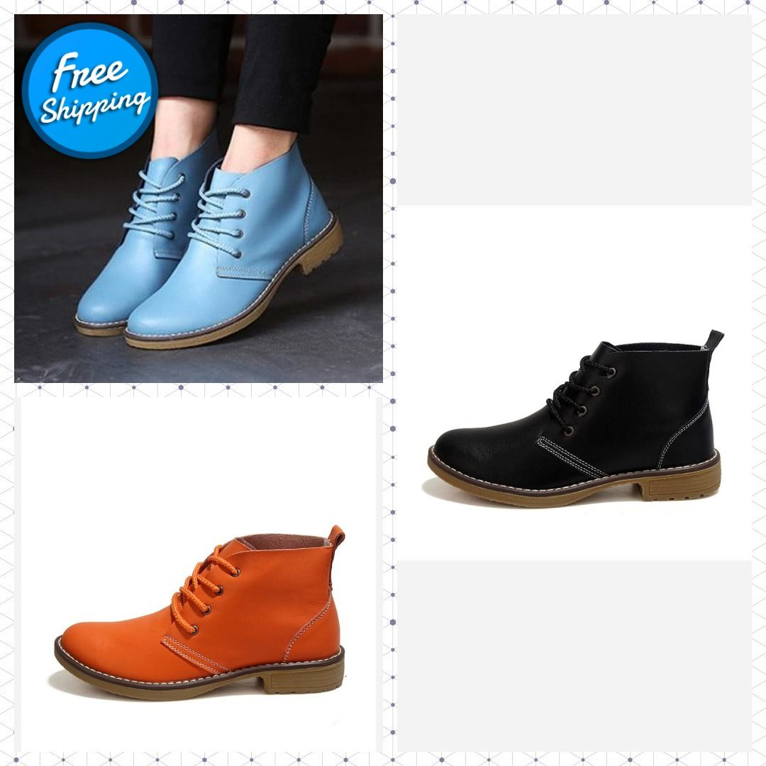 543249fa20 Genuine Leather Boots Women Shoes Motorcycle Ankle Boots For Women Platform  Autumn Winter Boots Women Size