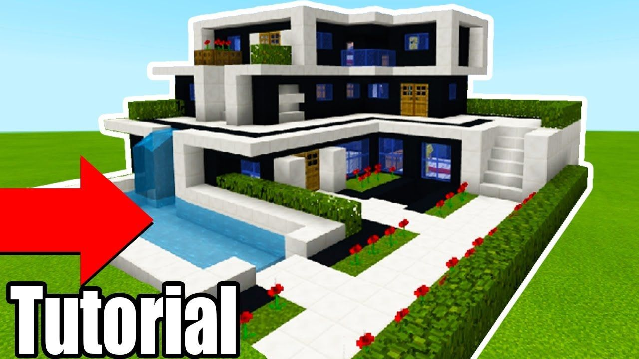 Minecraft Tutorial: How To Make A The Ultimate Modern House 10