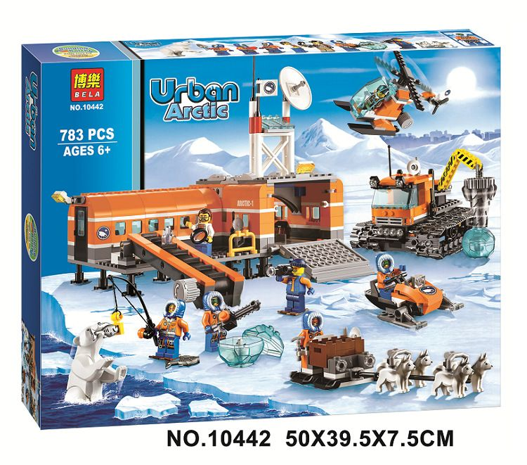 Bela 10442 City Arctic Base Camp Model Building Kits Compatible With